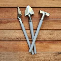 Kit 3 mini ferramentas
