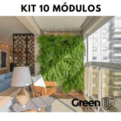 kit jardim vertical 10 módulos + 10 kit irrigação + Temporizador digital 1 saída ORBIT