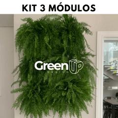 Kit Jardim Vertical 3 módulos + Irrigação