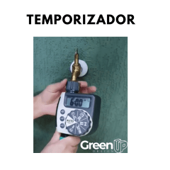 Kit Jardim Vertical 5 módulos + Irrigação + Temporizador